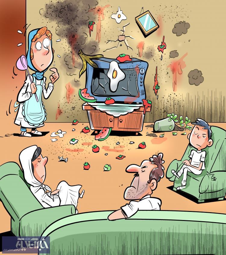 کاریکاتور وضعیت مردم در قرنطینه خانگی,کاریکاتور,عکس کاریکاتور,کاریکاتور اجتماعی