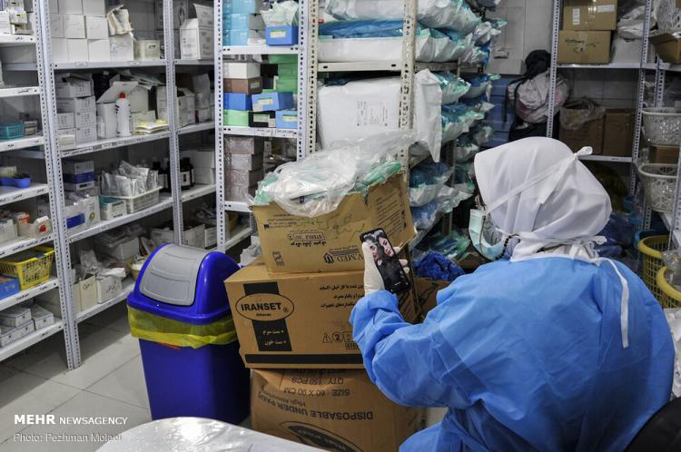 تصاویر بیمارستان رازی اهواز,عکس های پذیرش بیماران کرونایی در اهواز,تصاویر شیوع کرونا در اهواز