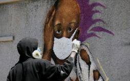 نقاشی دیواری با موضوع کرونا,اخبار هنرهای تجسمی,خبرهای هنرهای تجسمی,هنرهای تجسمی