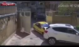 فیلم/ تصادف عجیب و تلخ یک تاکسی در خیابان سمیه تهران