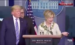 فیلم/ واکنش ترامپ وقتی مقام کاخ سفید می گوید آخر هفته تب داشته است