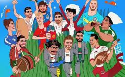 کاریکاتور فوتبالیستها را روی سبزه هفتسین,کاریکاتور,عکس کاریکاتور,کاریکاتور ورزشی