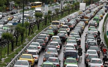 ترافیک در تهران,اخبار اجتماعی,خبرهای اجتماعی,وضعیت ترافیک و آب و هوا