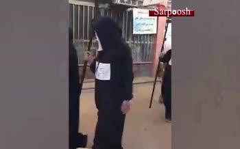 فیلم/ ترساندنِ مردم از کرونا با لباس عزرائیل در خرمشهر!