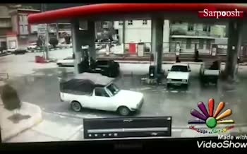 فیلم/ انفجار در جایگاه CNG شهرستان پاوه
