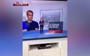 فیلم/ گاف عجیب شبکه M6 فرانسه؛ عکس رضا پرستش به جای لیونل مسی!