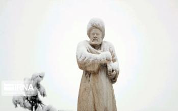 تصاویر بارش برف بهاری در همدان و مازندران,عکس های بارش برف در همدان,عکس های بارش برف در مازندران