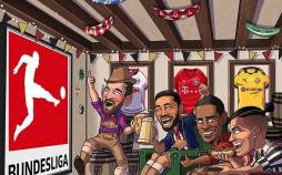 کاریکاتور در مورد شروع مسابقات بوندسلیگا,کاریکاتور,عکس کاریکاتور,کاریکاتور ورزشی