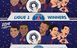 کاریکاتور قهرمانی پاری سن ژرمن در لیگ فرانسه,کاریکاتور,عکس کاریکاتور,کاریکاتور ورزشی