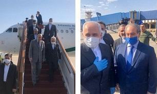 ظریف در صدر هیات ارشد سیاسی وارد دمشق شد/  ظریف با بشار اسد دیدار کرد