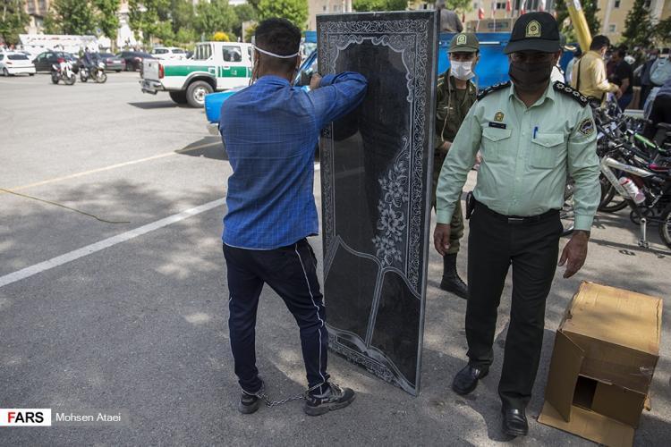 تصاویر مرحله ۳۵ طرح رعد پلیس پیشگیری پایتخت,عکس سارقان در مرحله ۳۵ طرح رعد,تصاویری از نمایشگاه مرحله ۳۵ طرح رعد