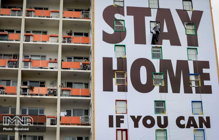تصاویر هنرهای خیابانی با الهام از کرونا,عکس های گرافیتی از کرونا,تصاویر گرافیتی های زیبا با الهام از کرونا