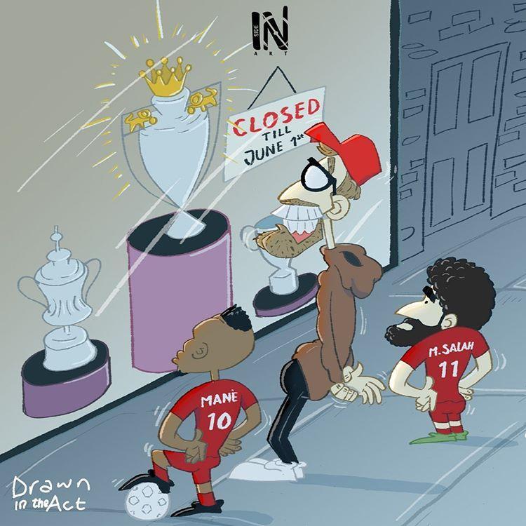 کاریکاتور در مورد قهرمانی لیورپول در لیگ برتر انگلیس,کاریکاتور,عکس کاریکاتور,کاریکاتور ورزشی