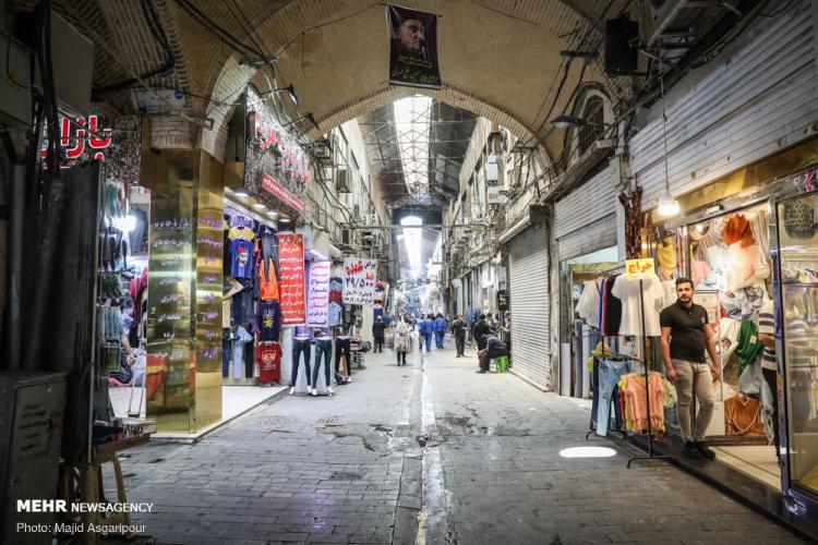 تصاویر بالارفتن کرکره بازار تهران,عکس های باز شدن بازار تهران,تصاویری از بازگشایی بازار تهران پس از تعطیلی به دلیل کرونا