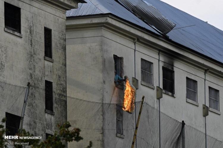 تصاویر شورش زندانیان آرژانتینی در پی شیوع کرونا در زندان,عکس های شورش زندانیان در آرژانتین,تصاویر شیوع کرونا در زندان های آرژانتین