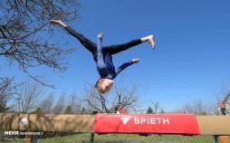 تصاویر تمرینات ورزشکاران المپیکی در قرنطینه,عکس های تمرینات ورزشکاران المپیکی،تصاویر وضعیت ورزشکاران در دوران قرنطینه