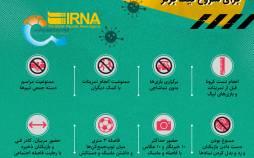 اینفوگرافیک پروتکلهای بهداشتی برای شروع لیگ برتر