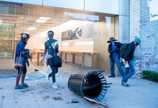 سرقت محصولات اپل در جریان اعتراضات آمریکا,اخبار دیجیتال,خبرهای دیجیتال,اخبار فناوری اطلاعات