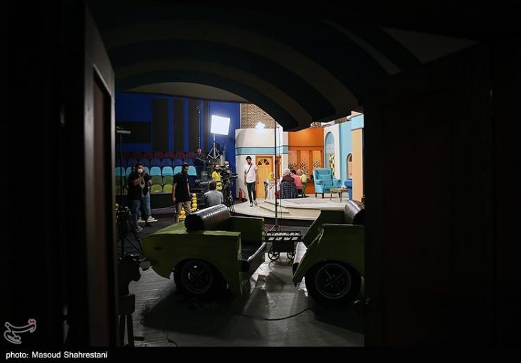 تصاویر پشت صحنه سریال بچه محل,عکس بازیگران در پشت صحنه سریال بچه محل,تصاویر عموپورنگ در سریال بچه محل