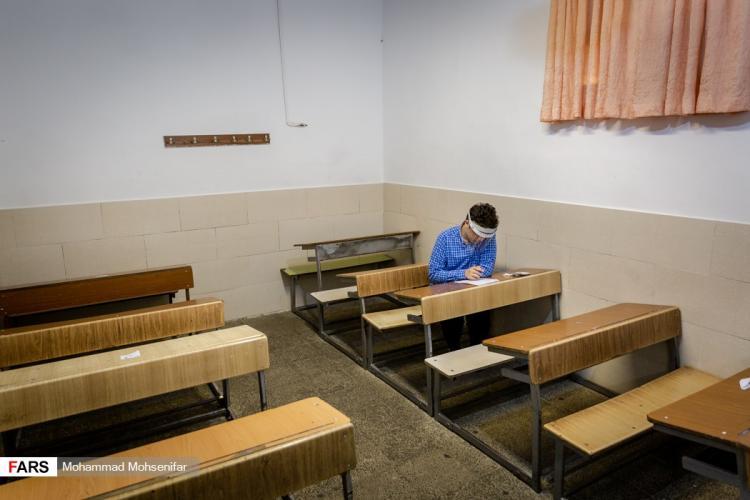 تصاویر آغاز امتحانات پایان ترم سال تحصیلی مدارس,عکس های برگزاری امتحانات نهایی خرداد 99,تصاویری از امتحانات نهایی در شرایط کرونایی