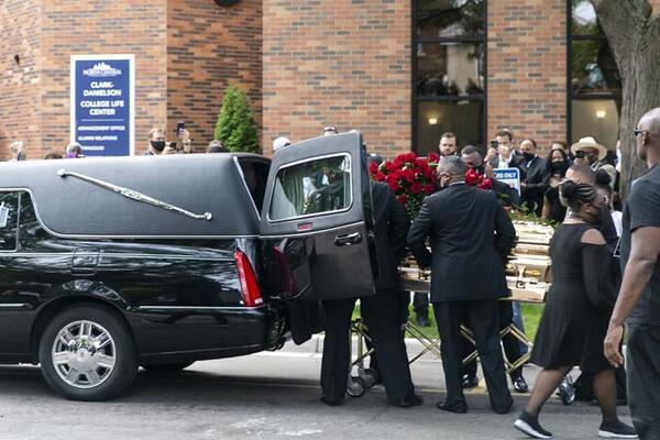 تصاویر تشییع جنازه جورج فلوید,عکس های تشییع جنازه جورج فلوید,تصاویری از تشییع جنازه جورج فلوید
