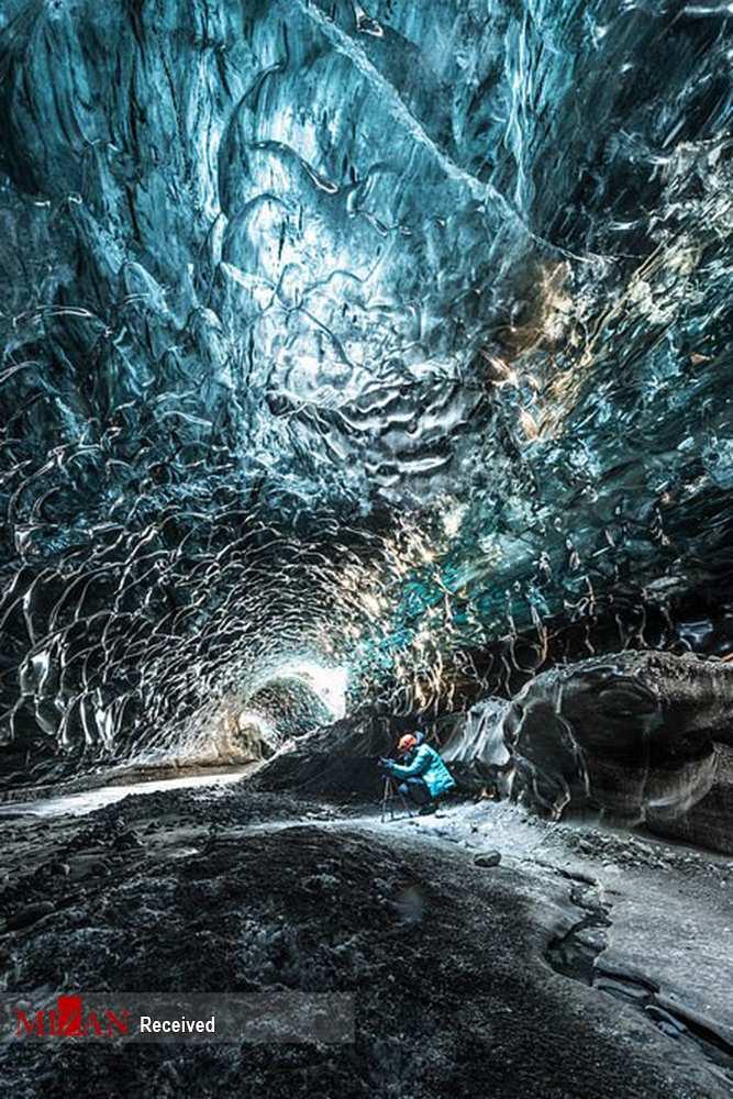 تصاویر غار یخی ایسلند,عکس های غار یخی ایسلند,تصاویری از غار یخی در ایسلند