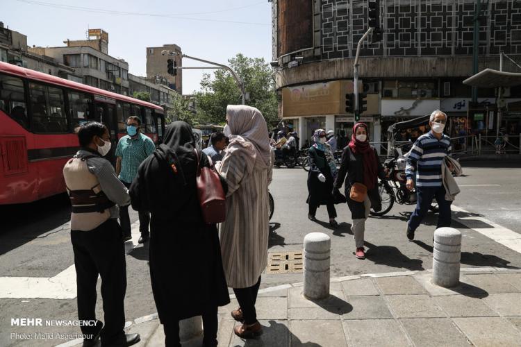 تصاویری از روزهای شلوغ تهران,عکس های روزهای شلوغ در تهران در اوضاع کرونایی,عکس های مردم تهران در شرایط کرونایی