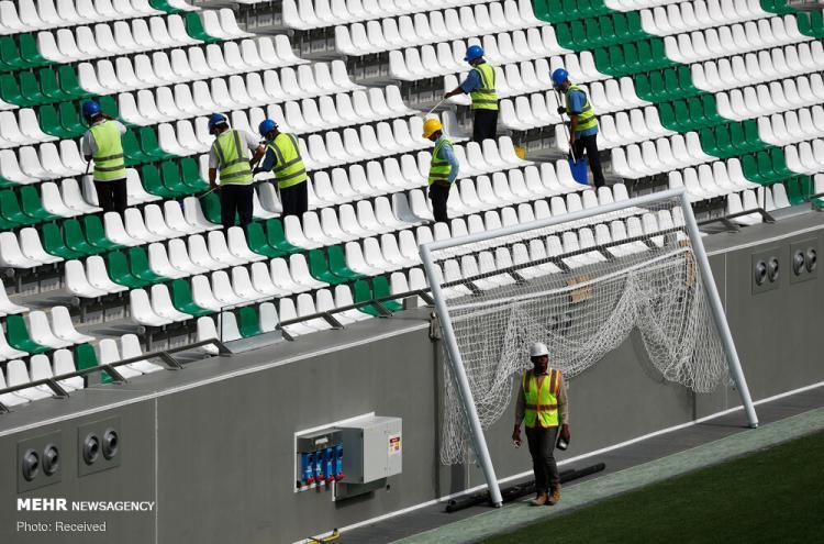 تصاویر تکمیل سه ورزشگاه قطر برای مسابقات جام جهانی ۲۰۲۲,عکس های ورزشگاه های قطر,تصاویری از آماده سازی ورزشگاه های جام جهانی ۲۰۲۲