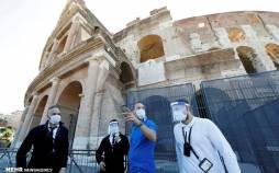 تصاویر بازگشایی کولوسئوم در ایتالیا,عکس های گردشگران در کولوسئوم,تصاویری از کولوسئوم رم