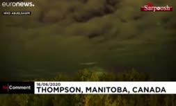 فیلم/ لحظات خیالانگیز شفق قطبی در کانادا