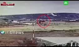 فیلم/ سقوط بالگرد روسی هنگام پرواز آزمایشی
