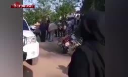 فیلم/ تشییع پیکر دختر 13 ساله که به دست پدرش کشته شد