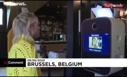 فیلم/ دستگاه چاپ تصویر صورت روی ماسک در بلژیک