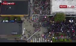 فیلم/ تظاهرات 60 هزار نفری در سیاتل