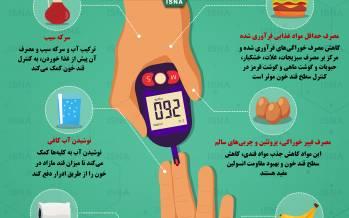 اینفوگرافیک در مورد روشهایی مؤثر برای کنترل قند خون