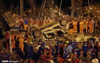 تصاویر انفجار تانکر سوخت در چین,عکس های منفجر شدن تانکر سوخت در چین,تصاویری از انفجار یک تانکر حامل گاز طبیعی مایع در چین