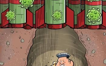 کاریکاتور در مورد مخفیگاه کیم جونگ اون