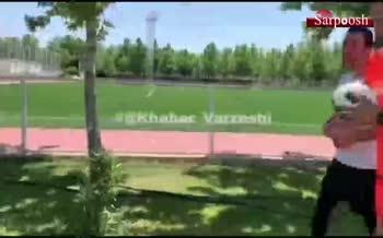فیلم/ رویارویی علی کریمی و عادل فردوسی پور در تمرین تیم رسانه ورزش