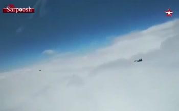 فیلم/ جنگندههای روس بمبافکنهای راهبردی آمریکا را دور کردند