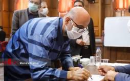 تصاویر سیزدهمین جلسه رسیدگی به اتهامات اکبر طبری,عکس های جلسه سیزدهم دادگاه اکبر طبری,تصاویر از دادگاه اکبر طبری