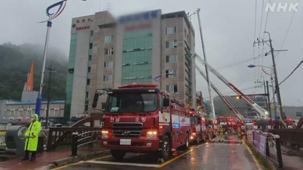 آتش گرفتن بیمارستانی در کره جنوبی,اخبار حوادث,خبرهای حوادث,حوادث امروز