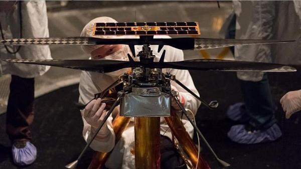 پرواز هلیکوپتر ناسا از روی سطح مریخ,اخبار علمی,خبرهای علمی,نجوم و فضا
