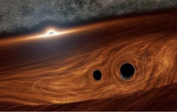 رصد نور حاصل از برخورد دو سیاهچاله,اخبار علمی,خبرهای علمی,نجوم و فضا