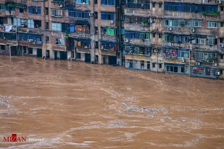 تصاویر سیل در چین,عکس های سیل چین,تصاویری از وقوع سیل در چین