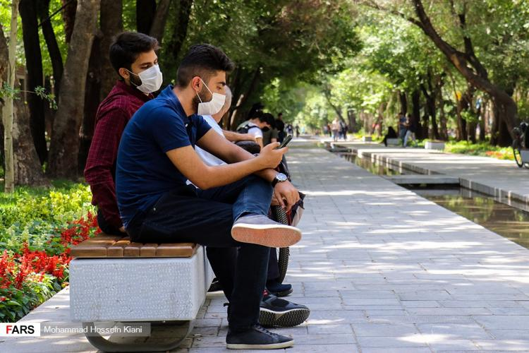 تصاویر زدن ماسک اجباری در اصفهان,عکس های طرح ماسک اجباری در اصفهان,تصاویر مردم اصفهان در شرایط کرونایی