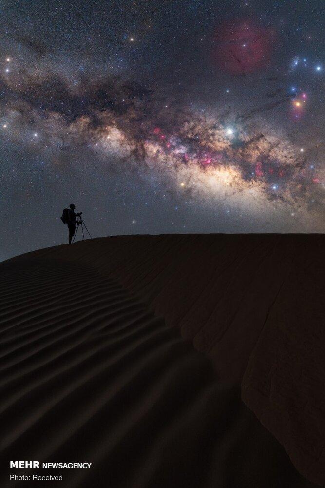 تصاویر کهکشان راه شیری از نمای زمین,عکس های کهکشان راه شیری،تصاویری از کهکشان راه شیری