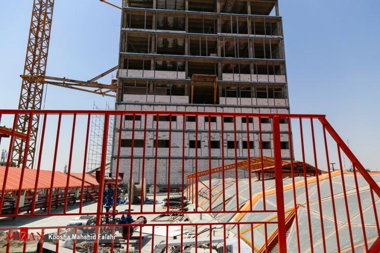تصاویر ساختمان جدید پلاسکو,تصاویری از ساخت مجتمع تجاری پلاسکو,تصاویر بازسازی پلاسکو