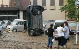 سیل گسترده در جنوب غربی ژاپن,اخبار حوادث,خبرهای حوادث,حوادث طبیعی