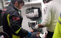 تصادف اتوبوس در بزرگراه کرج-قزوین,اخبار حوادث,خبرهای حوادث,حوادث