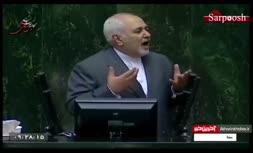 فیلم/ تشنج در جلسه علنی مجلس هنگام سخنرانی محمدجواد ظریف